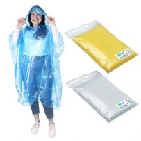 Pack of 3 Waterproof Rain Ponchos - Mixed